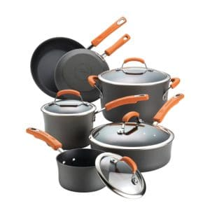 Rachael Ray Hard Anodized Dishwasher Safe Cookware Set