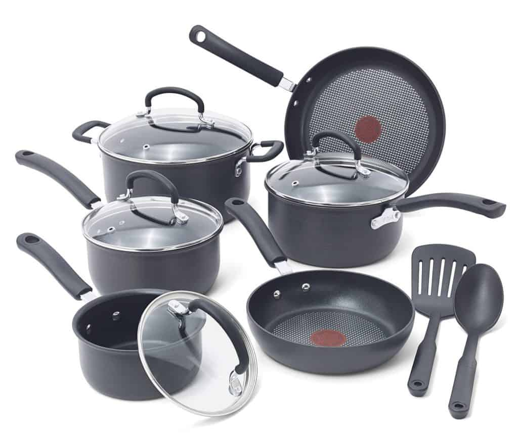 T-fal E765SC Ultimate Hard Anodized Cookware Set