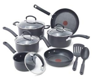T fal E765SC Ultimate Hard Anodized Cookware Set