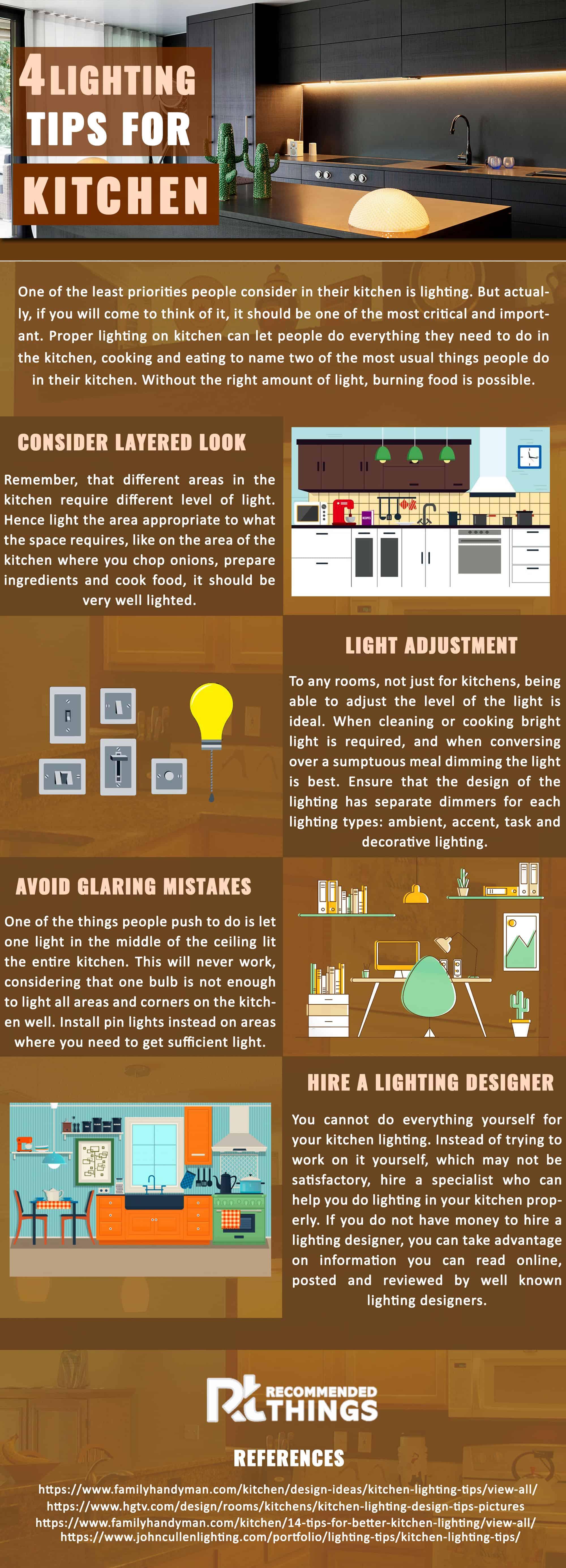 Lighting Tips For Kitchen