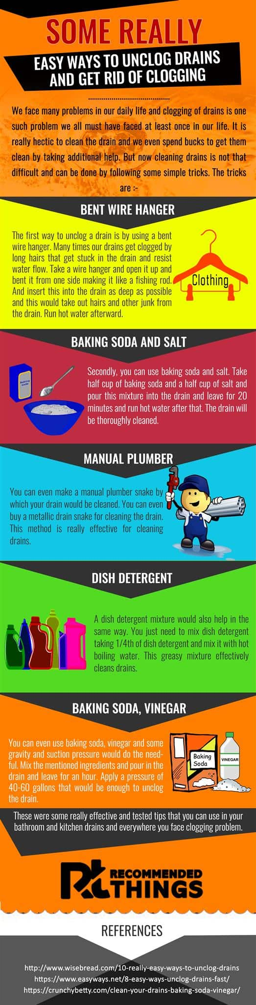 Easy Ways To Unclog Drains