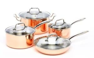 ExcelSteel 546 Professional 8 Piece Triply Cookware Set