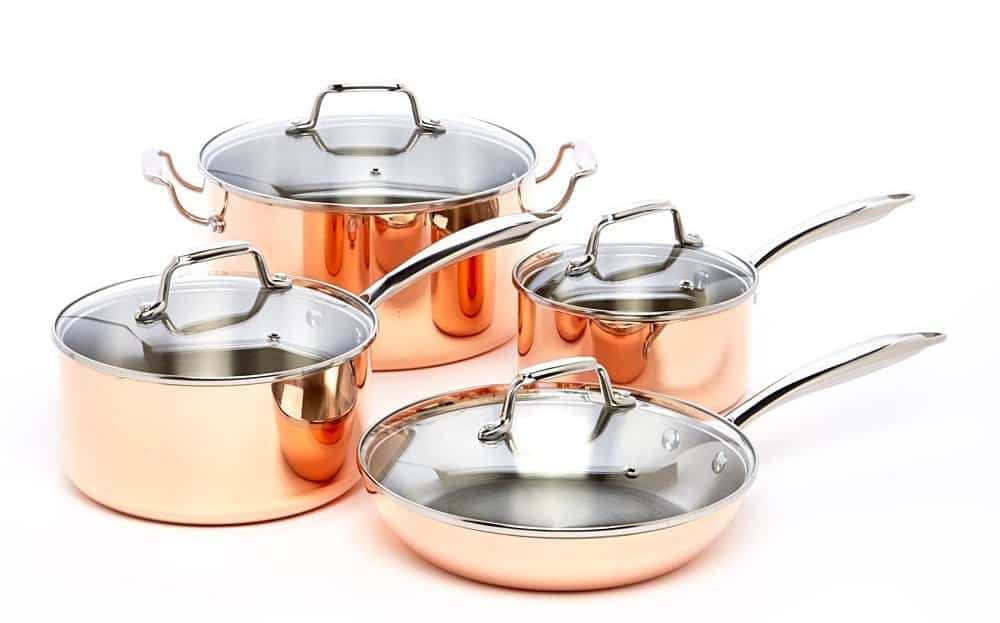 ExcelSteel 546 Professional 8-Piece Triply Cookware Set