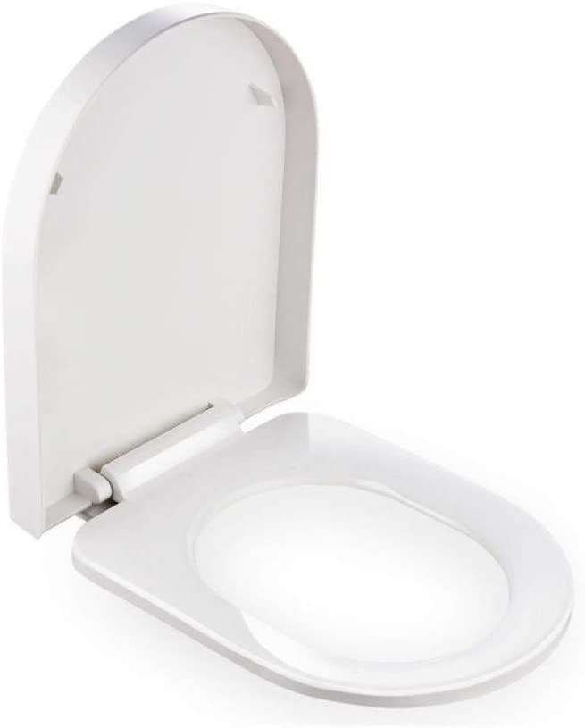 ZPWSNH U-Shaped Toilet Seat, Top Mounted Ultra-Durable Quick Release Toilet Cover