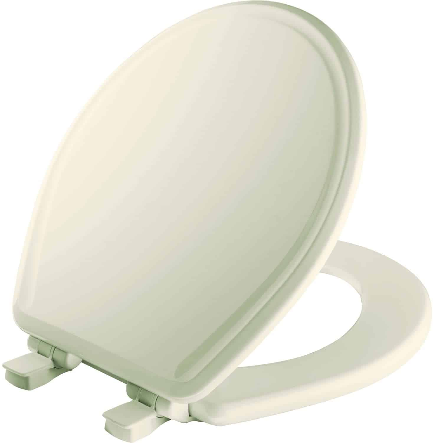 MAYFAIR 848SLOW 346 Toilet Seat will Slow Close, Never Loosen and Easily Remove,