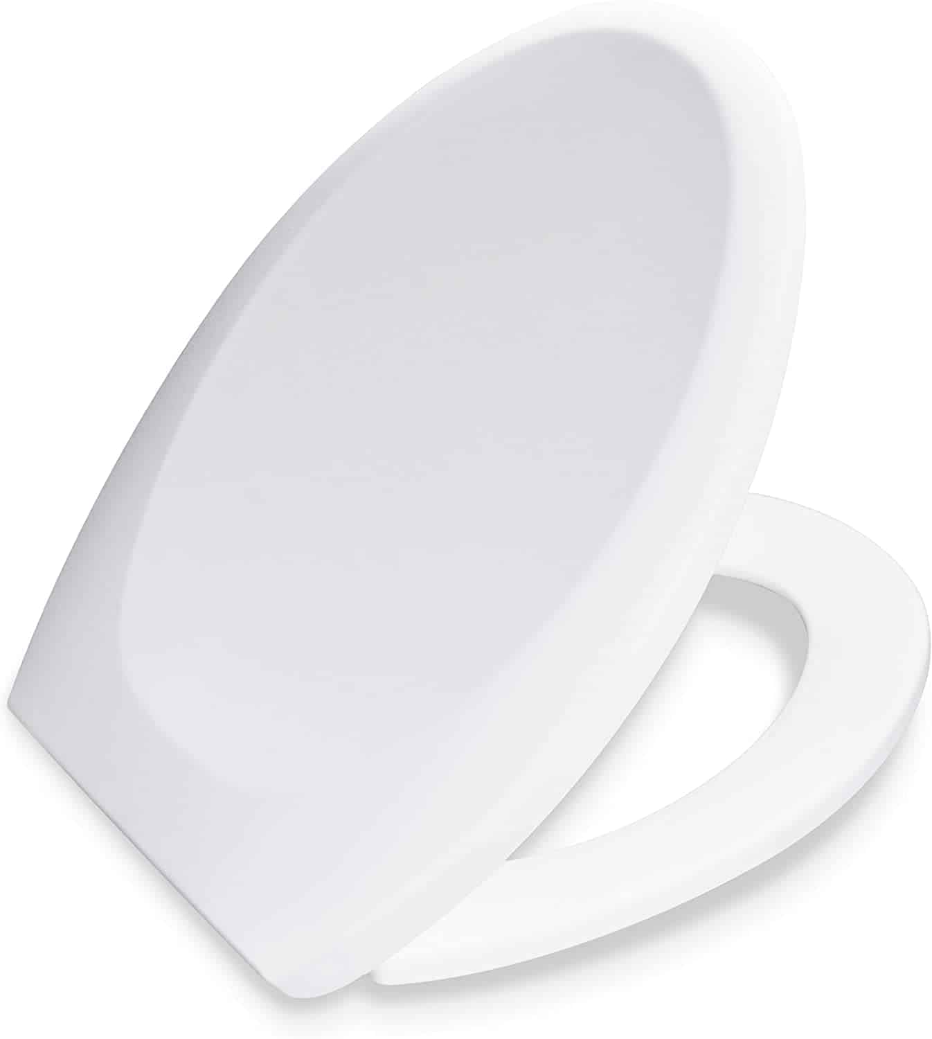 BATH ROYALE BR606-00 Premium Elongated Toilet Seat with Cover,